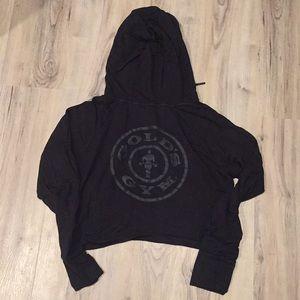Gymshark golds gym crop hoodie